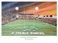 Leeds Rhinos Treble winning Celebration unframed A3 Print